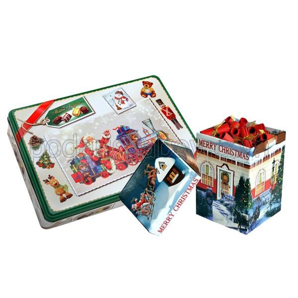 Коледен комплект - бонбони в кутия +100 коледни късмета