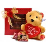 Любовен сет с мече и шоколадчета със снимка
