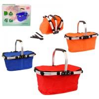 Сгъваема кошница за пикник - различни цветове