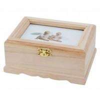 Дървена кутия с капак-фоторамка