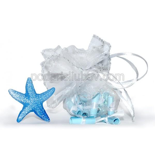 Морско предложение с любовни късмети, звезда и сребърна трева