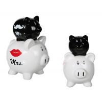 Уникална двойна касичка - прасенца Mr & Mrs