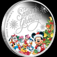 """Сребърна монета """"Весели празници с Дисни"""""""