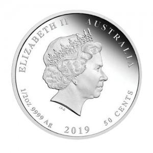 Сребърна монета Лунен календар Прасе ( 2019г. - година на прасето)