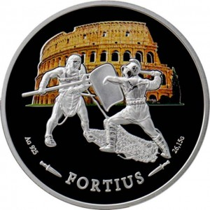 """Колекция сребърни монети """"Гладиаторите на Колизеума, могъщество и сила"""""""