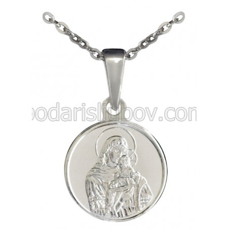 "Сребърен медальон ""Света Богородица с младенеца"""