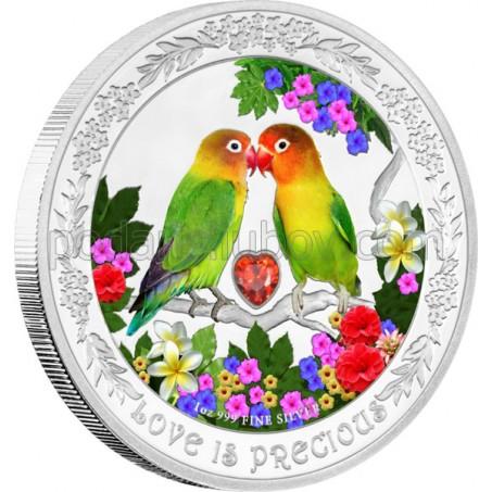 """Сребърна монета """"Любовта е безценна, Неразделки"""", кутия сърце"""