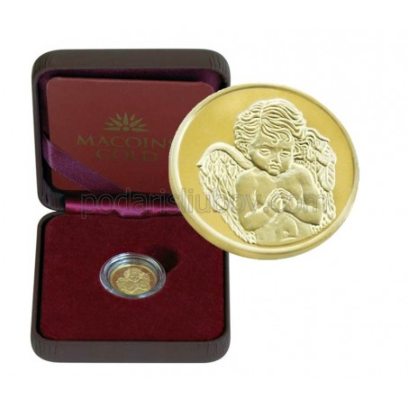 "Позлатен медал ""Небесен ангел"", 3 гр., 1.6 см"