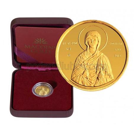 """Позлатен медал """"Св.Мария Магдалена"""", 3 гр., 1.6 см"""