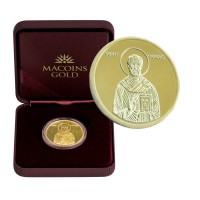 "Позлатен медал ""Св.Николай Чудотворец"", 3 гр., 1.6 см"