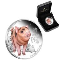 Сребърна монета Прасе - 2019г. - година на прасето