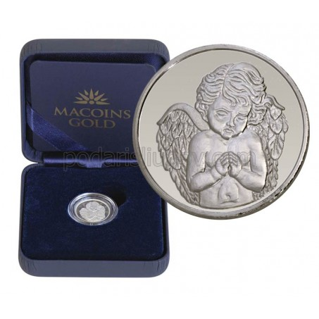 "Сребърен медал ""Небесен ангел"", 3 гр., 1.6см"