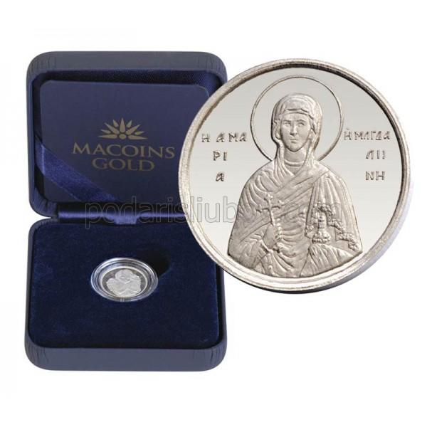 "Сребърен медал ""Света Мария Магдалена"", 3 гр.,1.6см"