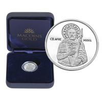 "Сребърен медал ""Свети Мина"", 3 гр.,1.6см"