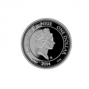 """Сребърна монета """"Бикът на победата"""", с частично златно покритие"""