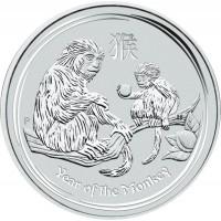 """Сребърна монета """"Годината на Маймуната 2016"""", 31 гр., 4.5 см"""