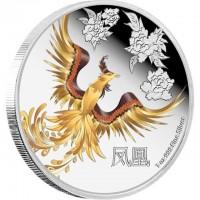 """Сребърна монета """"Триумф, отдаденост и любов,  Феникс"""""""