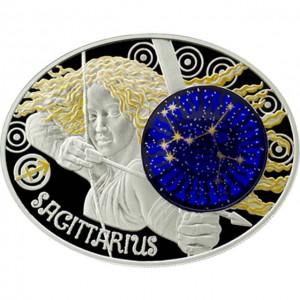 "Сребърна монета ""Зодиакални знаци - Стрелец"""