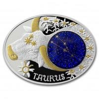 "Сребърна монета ""Зодиакални знаци - Телец"""