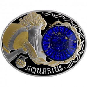 """Сребърна монета """"Зодиакални знаци- Водолей"""""""
