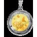 """За най-прекрасното цвете"", медальон с масивно сребърно и златно покритие"