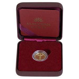 """Златен медал """"Исус Христос на кръста"""", 2.25 гр., 1.6 см"""