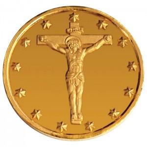 """Златен медал """"Света Мария Магдалена"""", 2.25 гр., 1.6 см"""