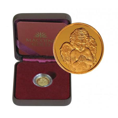 "Златен медал ""Небесен ангел"", 2.25 гр., 1.6 см"