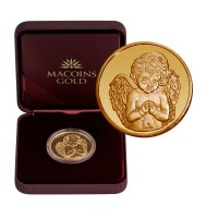 "Златен медал ""Небесен ангел"", 8.55 гр., 3 см"