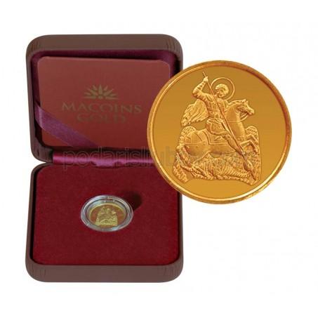 """Златен медал """"Свети Георги"""", 2.25 гр., 1,6 см"""