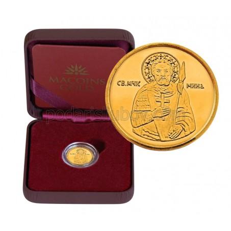 """Златен медал """"Свети Мина"""", 2.25 гр., 1.6 см"""