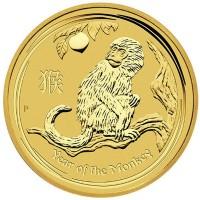 "Златна монета ""Годината на Маймуната 2016"", 1.55 гр., 1.48см"