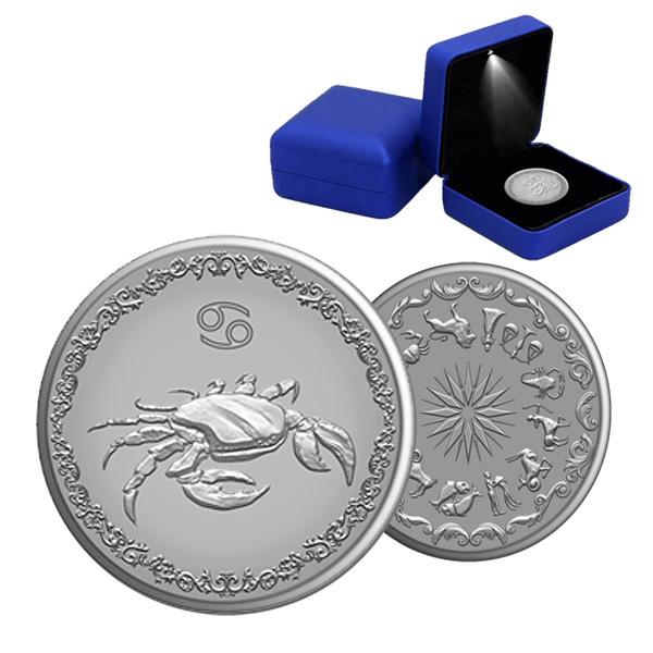 """Сребърен медальон """"Зодия - Рак"""""""