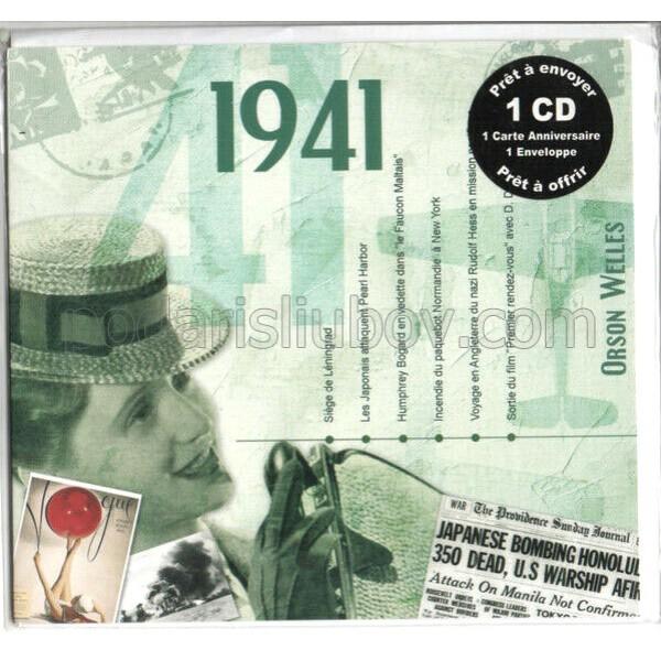 CD картичка с хитове от рождената 1941 година