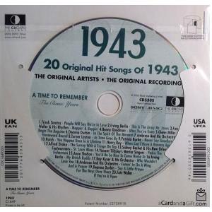 CD картичка с хитове от рождената 1943 година