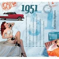 CD картичка с хитове от рождената 1951 година