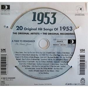 CD картичка с хитове от рождената 1953 година