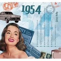 CD картичка с хитове от рождената 1954 година