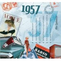 CD картичка с хитове от рождената 1957 година