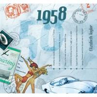 CD картичка с хитове от рождената 1958 година