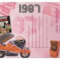 CD картичка с хитове от рождената 1987 година