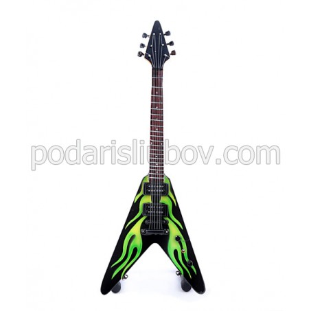 Сувенирна китара зелена стрела James Hetfield (Metallica)