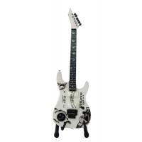 Сувенирна китара в бял цвят Кърк Хамет, Oujia (Metallica)