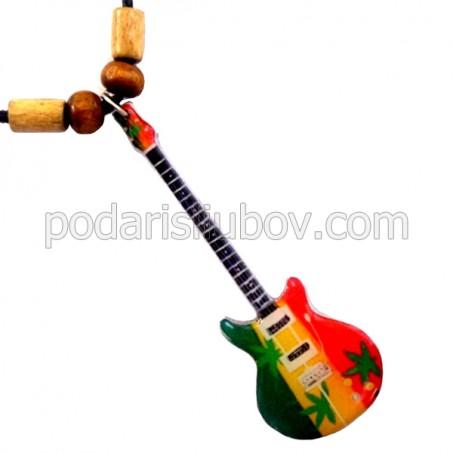 Колие с мини китара Bob Marley