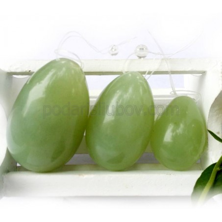 Сет от три нефритени яйца