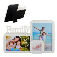 Рамка - колаж с място за 3 снимки Family