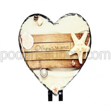 Камък с Ваша снимка, сърце