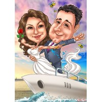 "Дигитална карикатура ""Титаник"", с 2 лица, размер А3"