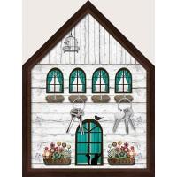 Пано за ключове във формата на Къща, с рамка
