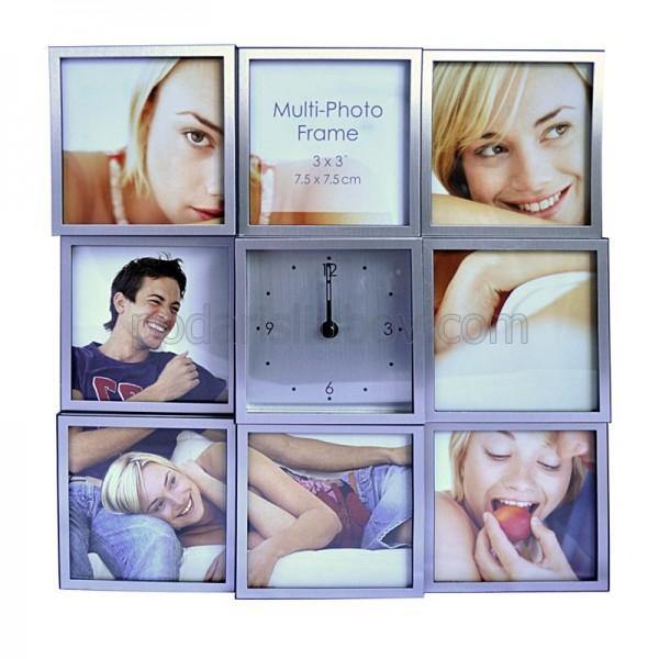 Рамка - Часовник за 8 Ваши снимки 24,5*24,5см